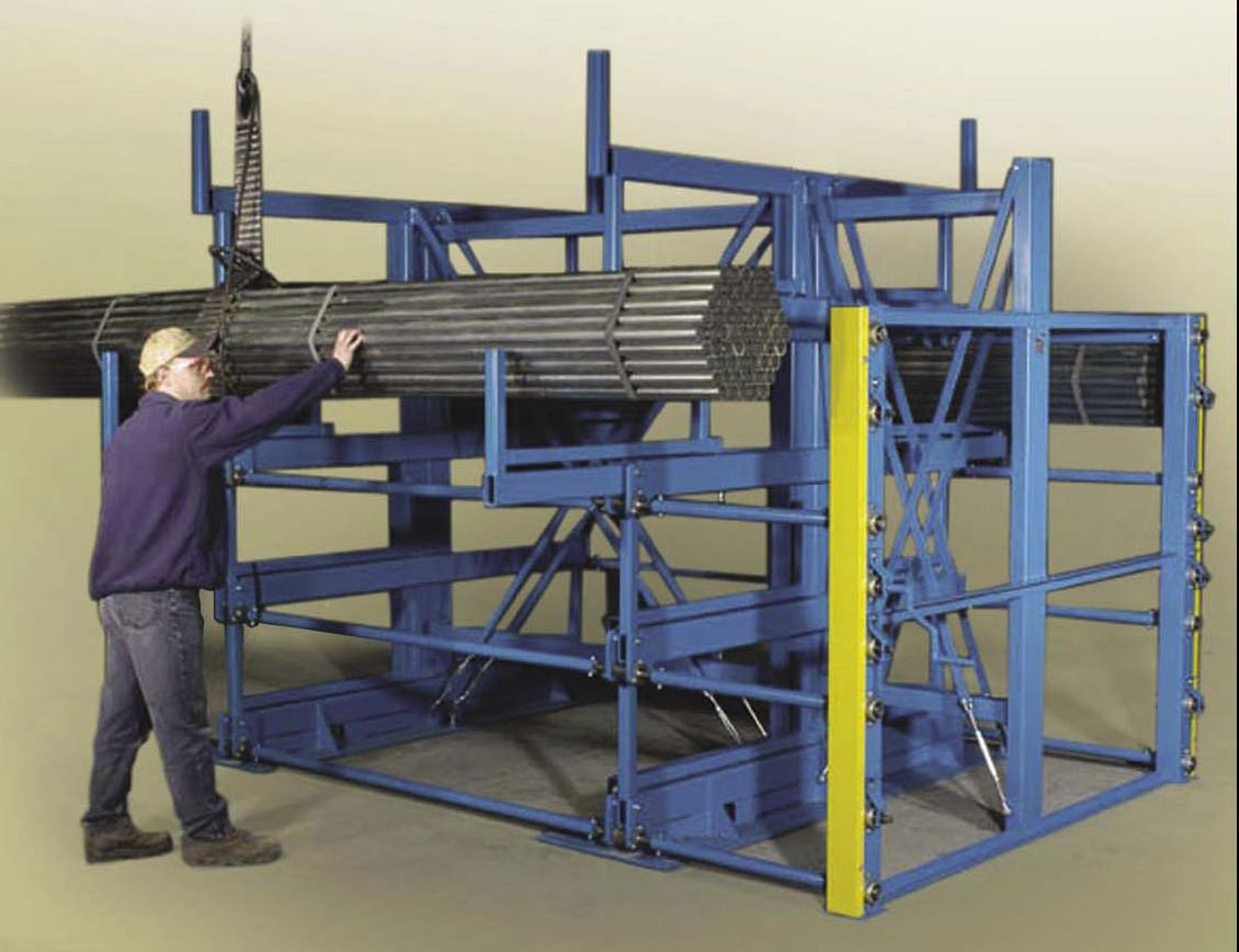 building racks racking materials systems angles floor guide rack designing double used cantilever anderson