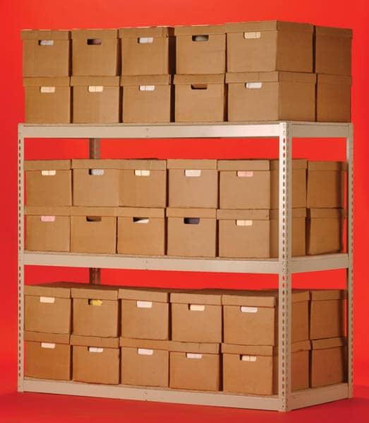 rivet shelving system