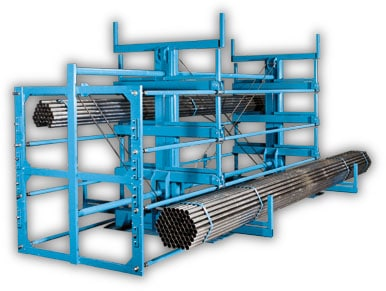 Crank Out Cantilever Racks Heavy Duty Roll Out Racks
