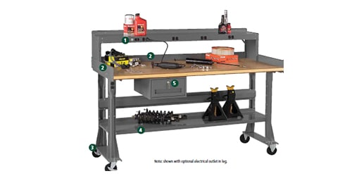 workbench stacked drawer