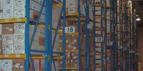 archive box storage shelving