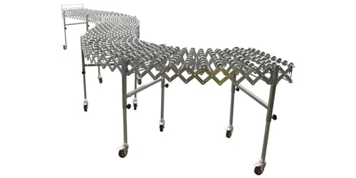 flexible expandable roller conveyor
