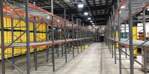 high density pallet racking system
