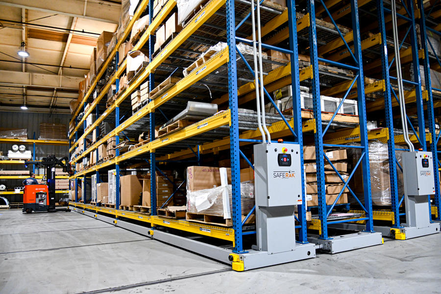 Mobile Racking Systems in warehouse